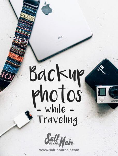 backup photos while traveing