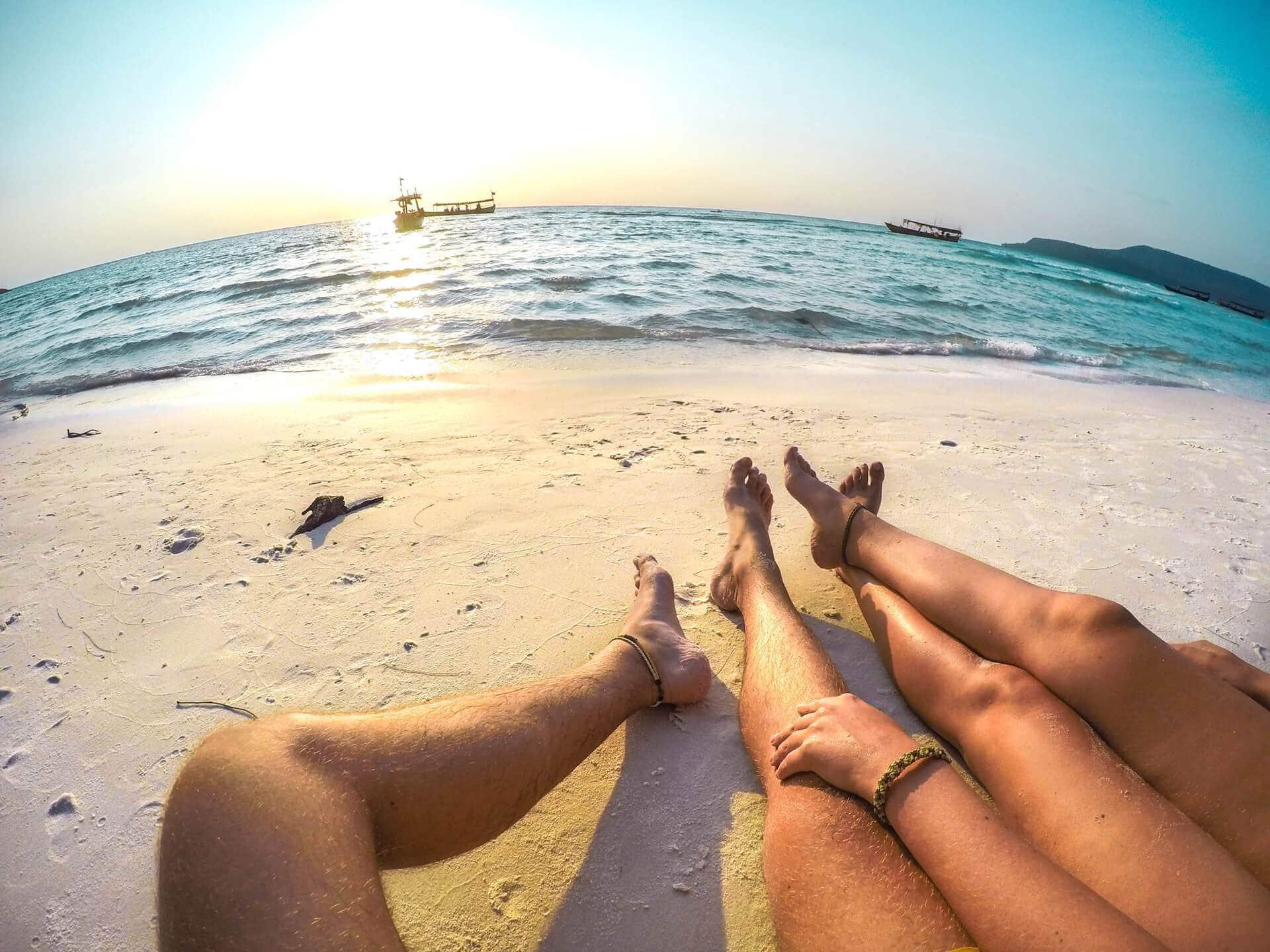 cambodia island koh rong sunset beach