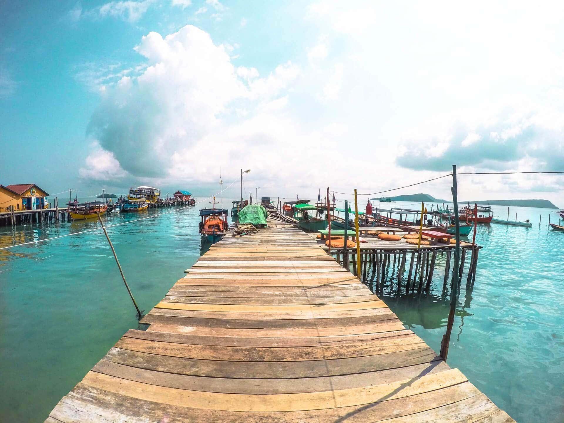 cambodia koh rong island pier