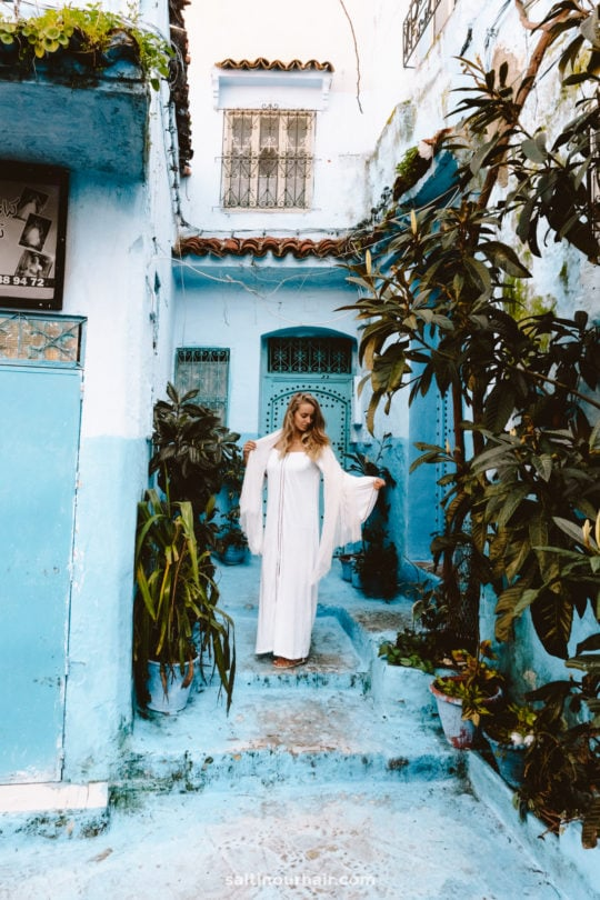 blue city morocco streets