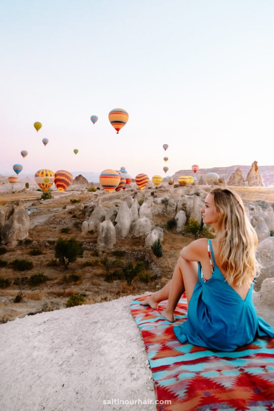cappadocia turkey best viewpoint hot air balloon