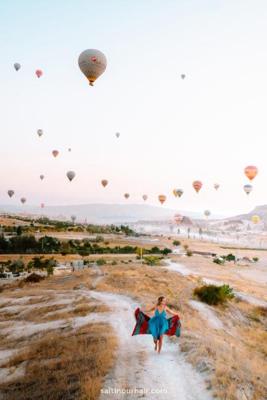 cappadocia hot air balloon photo spots