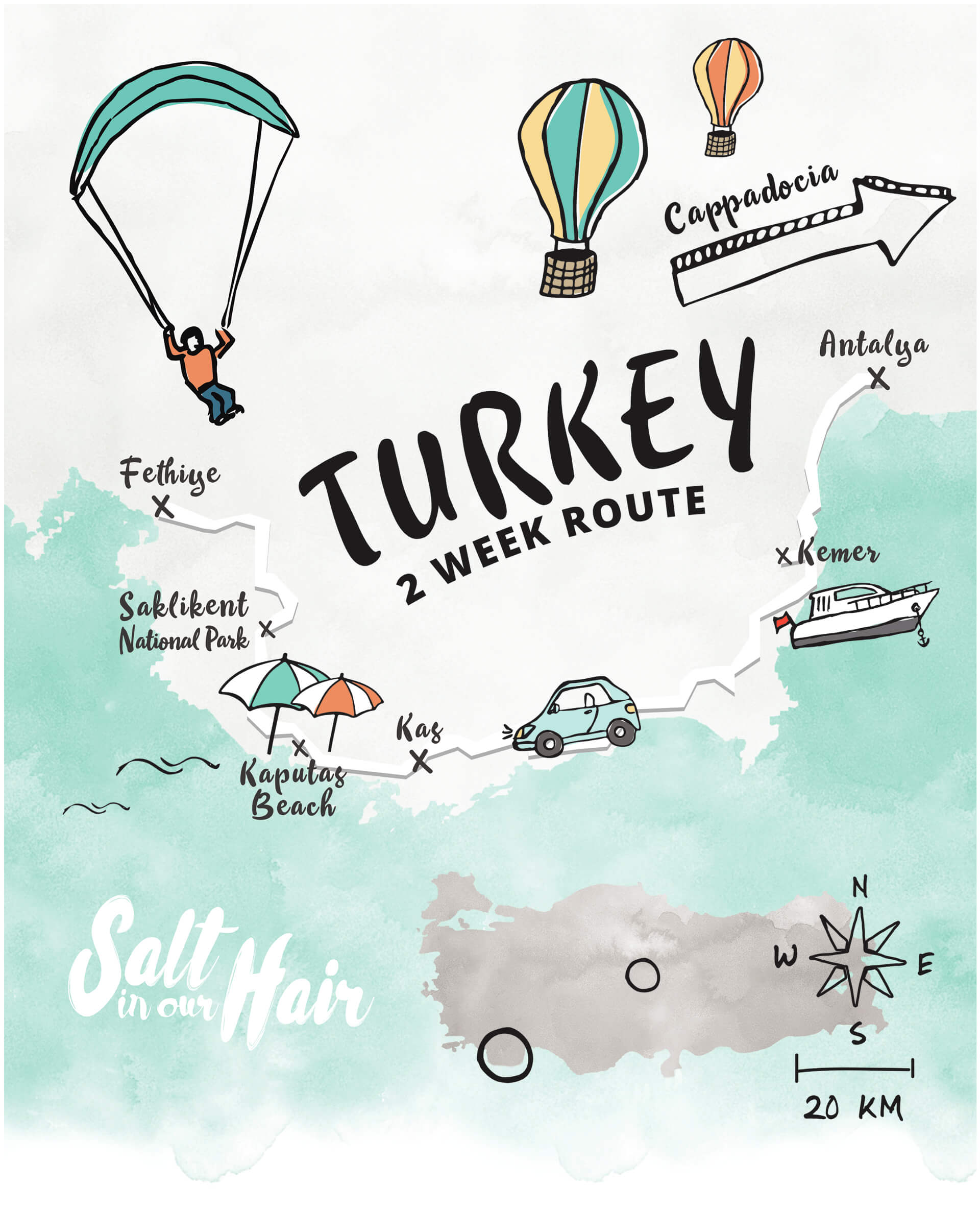turkey 2 week route guide map