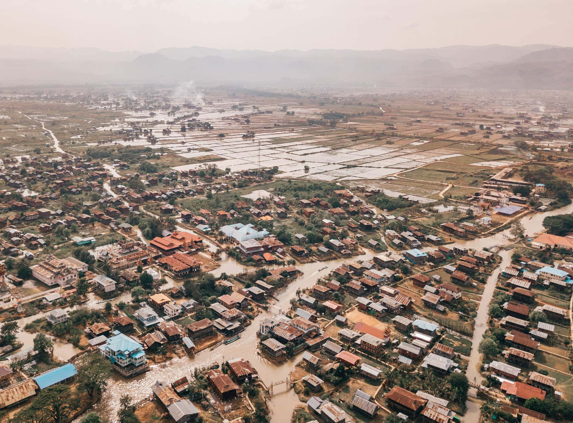 things to do inle lake drone village