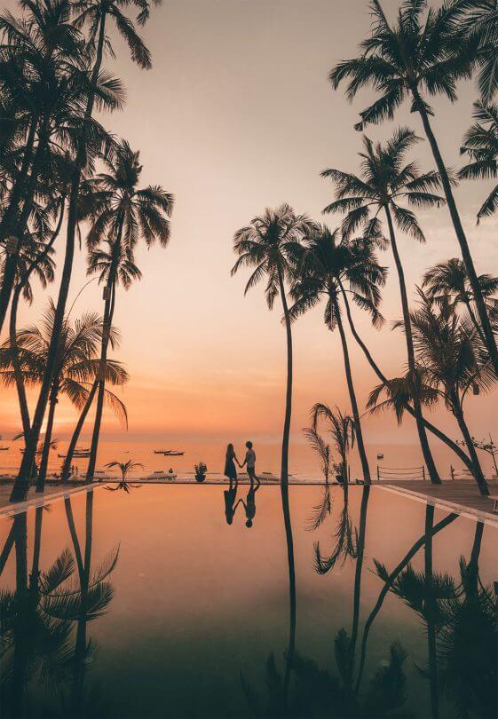 ngapali most beautiful beach sunset pool