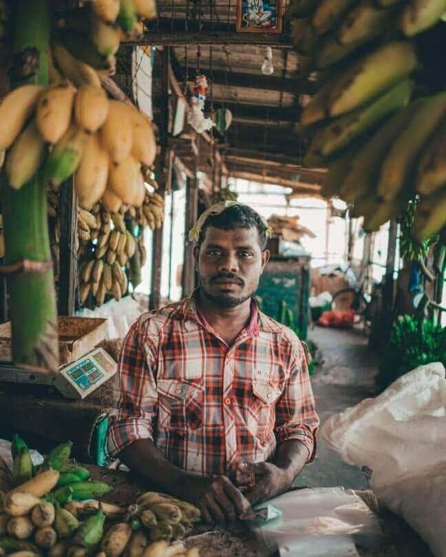 Things to do Jaffna Sri lanka Local market man