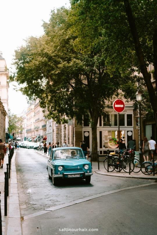 paris aethetic vintage car