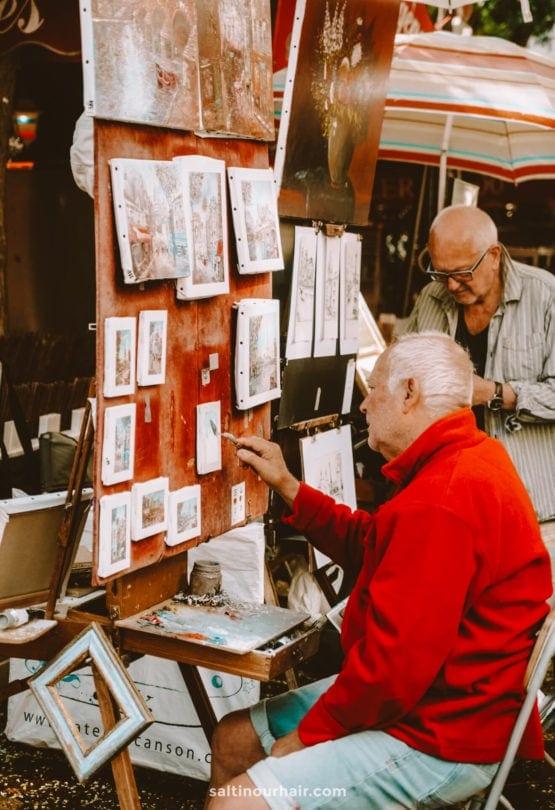 paris-montmartre place place du tertre painting