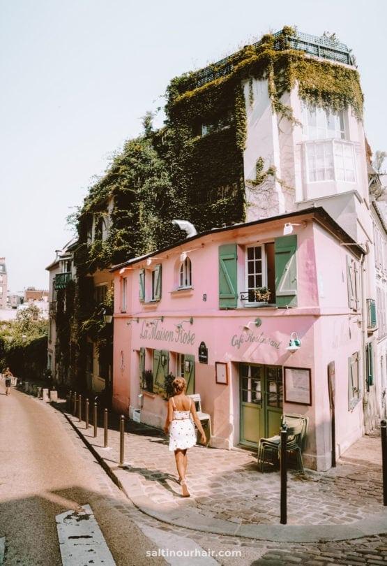 paris montmartre le maison rose cafe