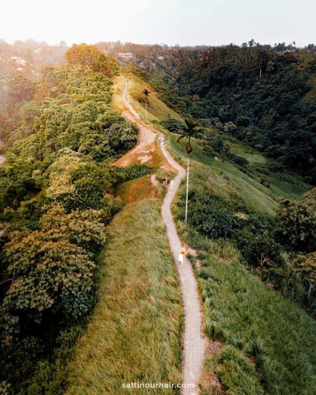 things to do ubud ridge walk drone