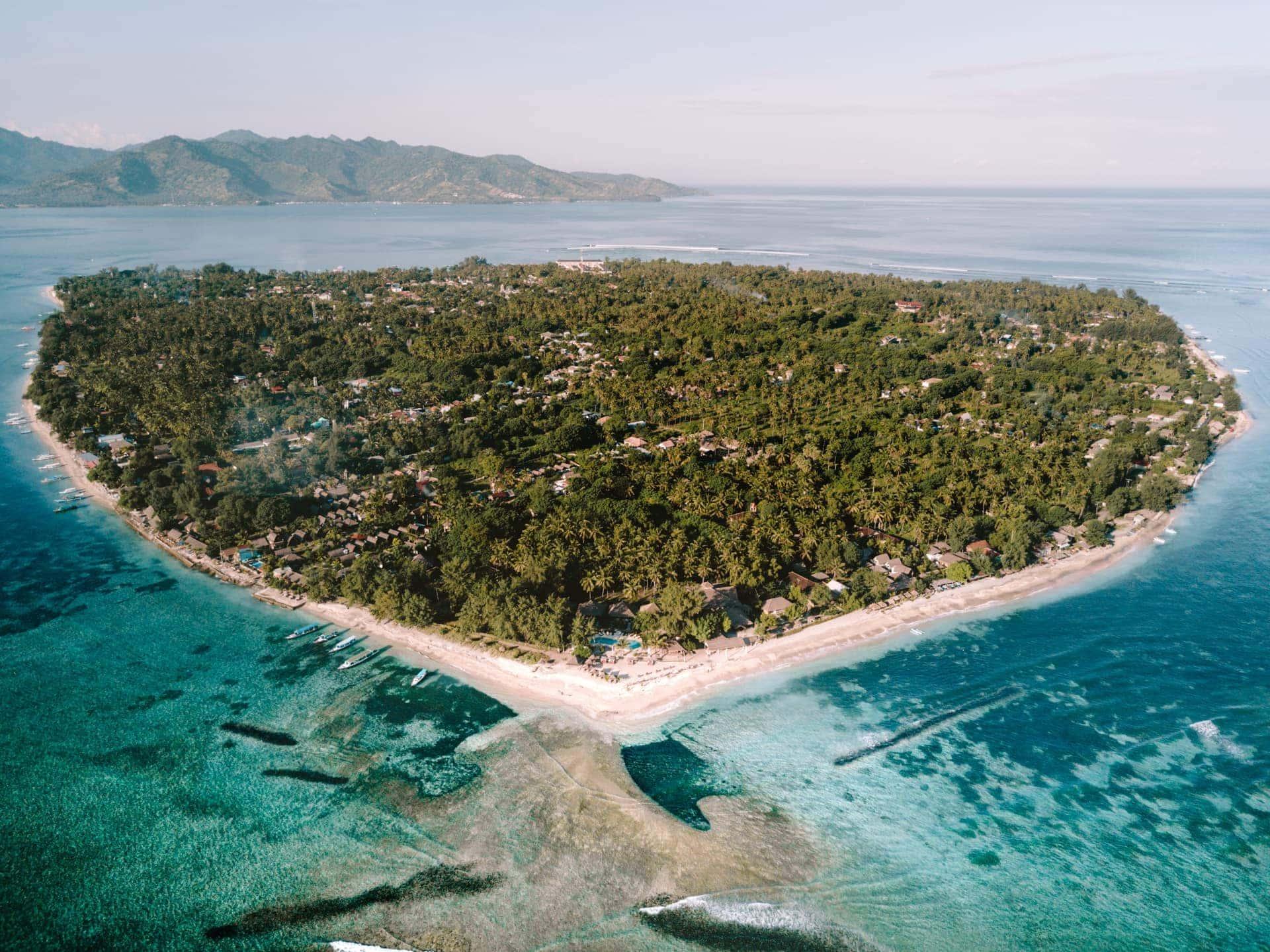 things to do gili air drone island