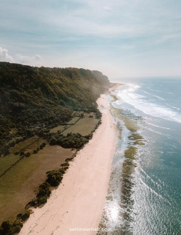 things to do uluwatu nyang nyang beach drone