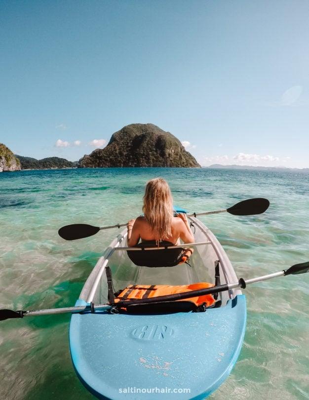 el nido clear kayak