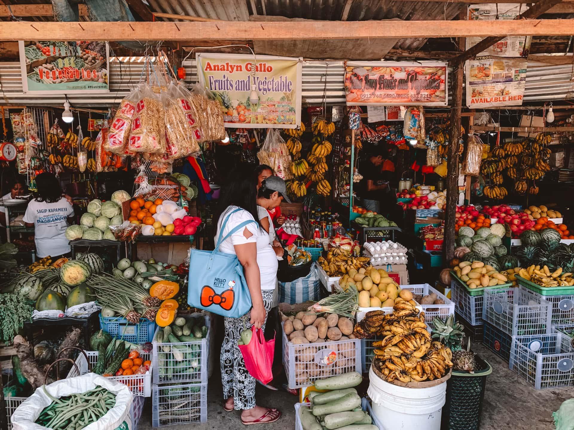 things to do el nido local market
