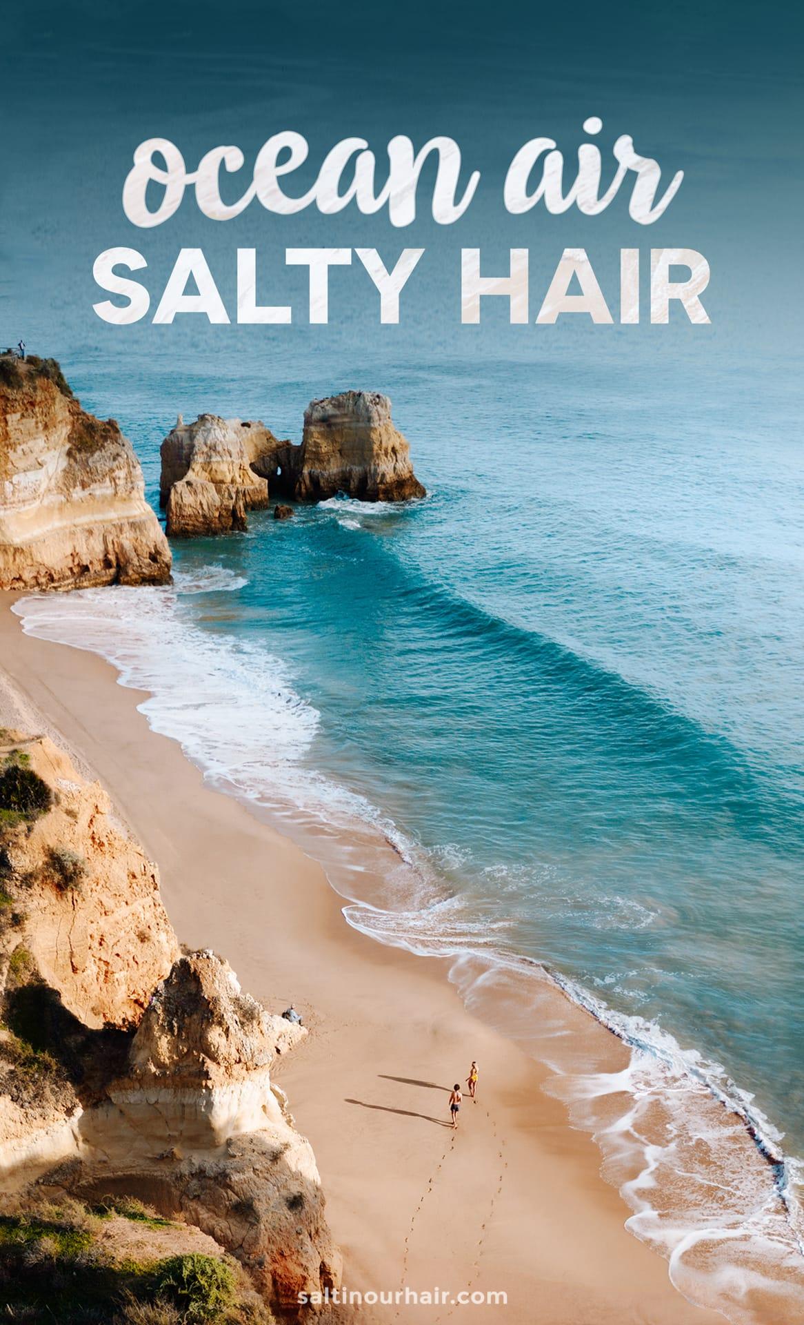 travel quote ocean air salty hair