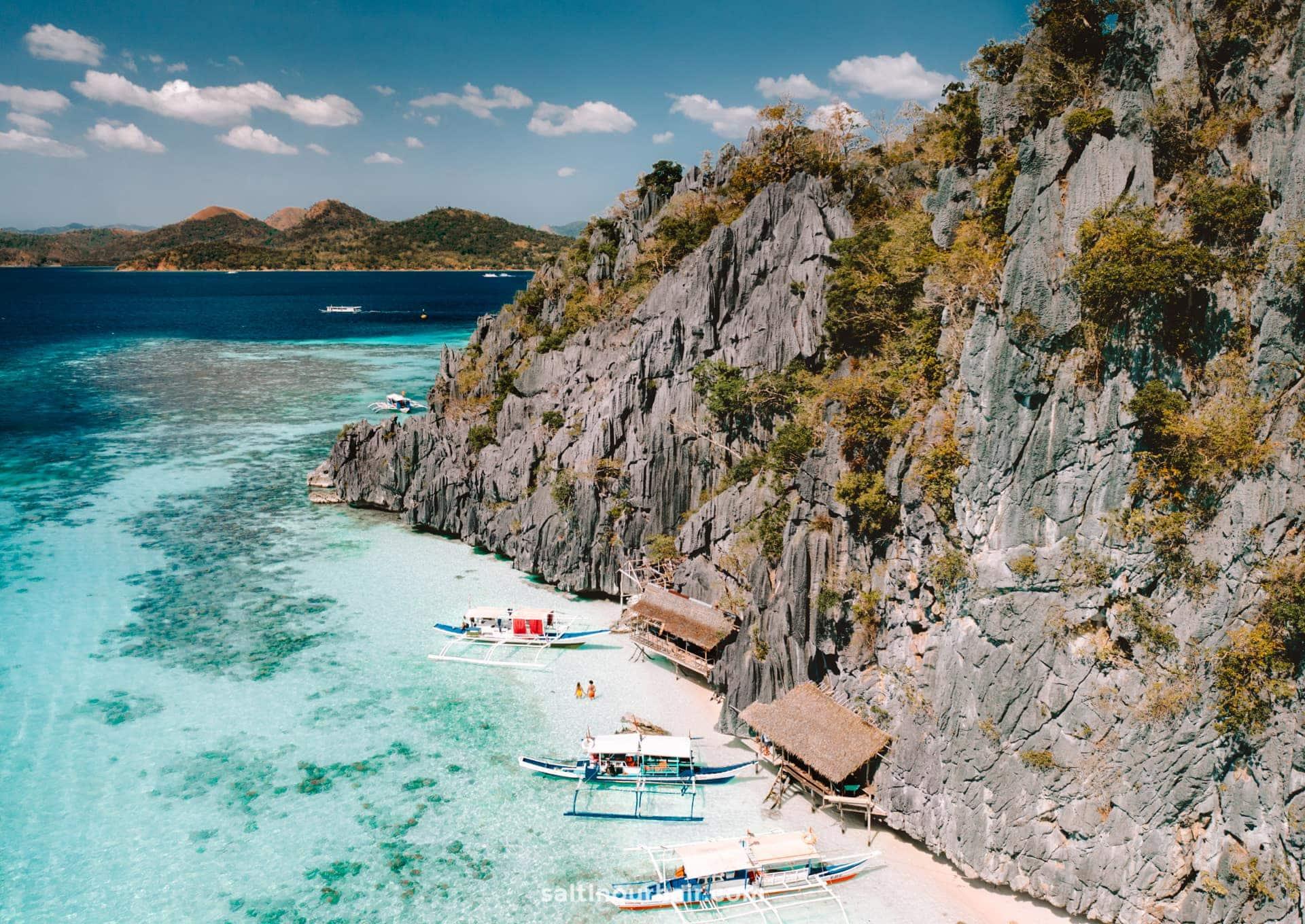 philippines travel guide coron banol beach
