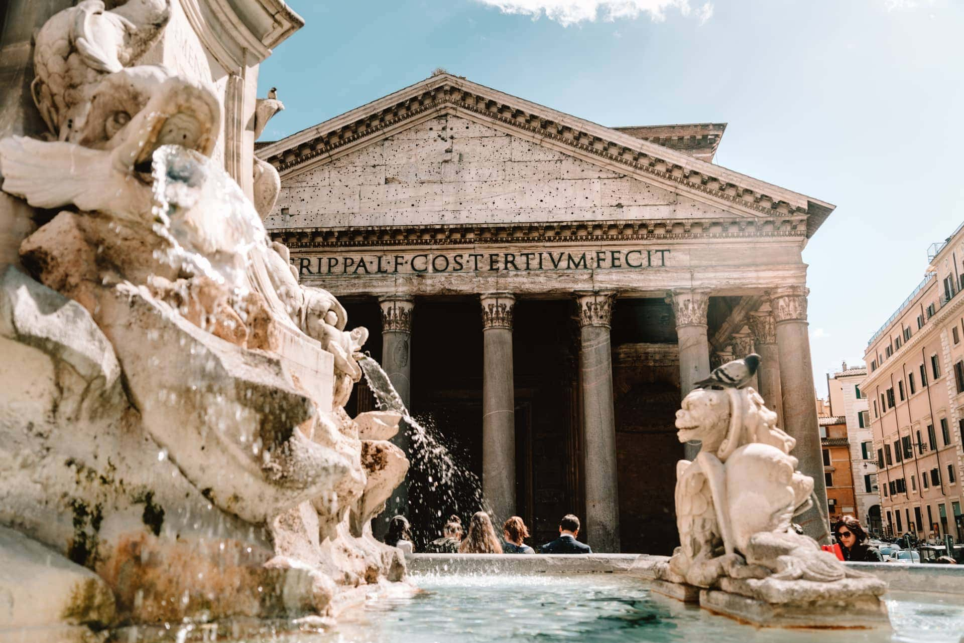 doen in rome italië pantheon