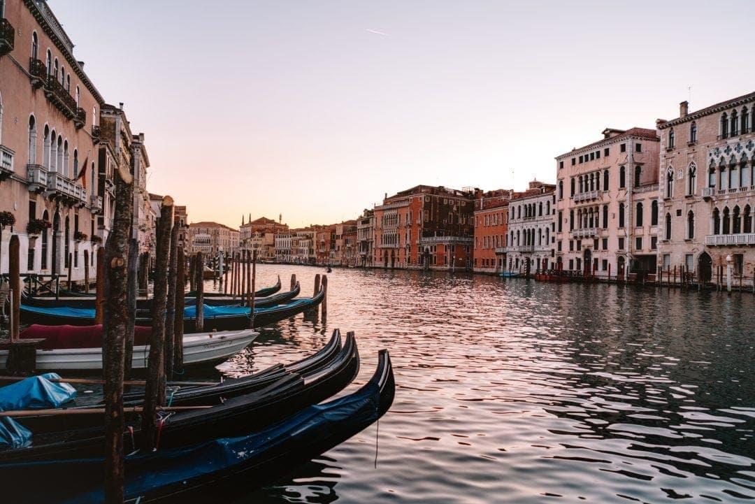 Venetië Italië zonsondergang