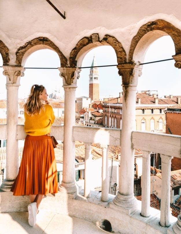 doen in venetië Scala Contarini del Bovolo uitzicht