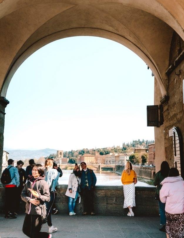Uitzicht op de Ponte Vecchio