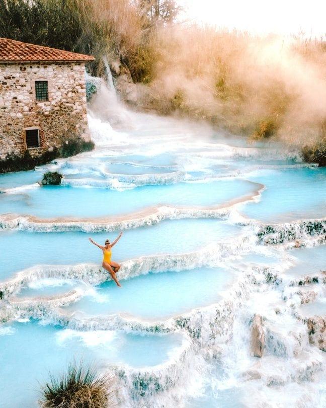 italië roadtrip saturnia thermale baden
