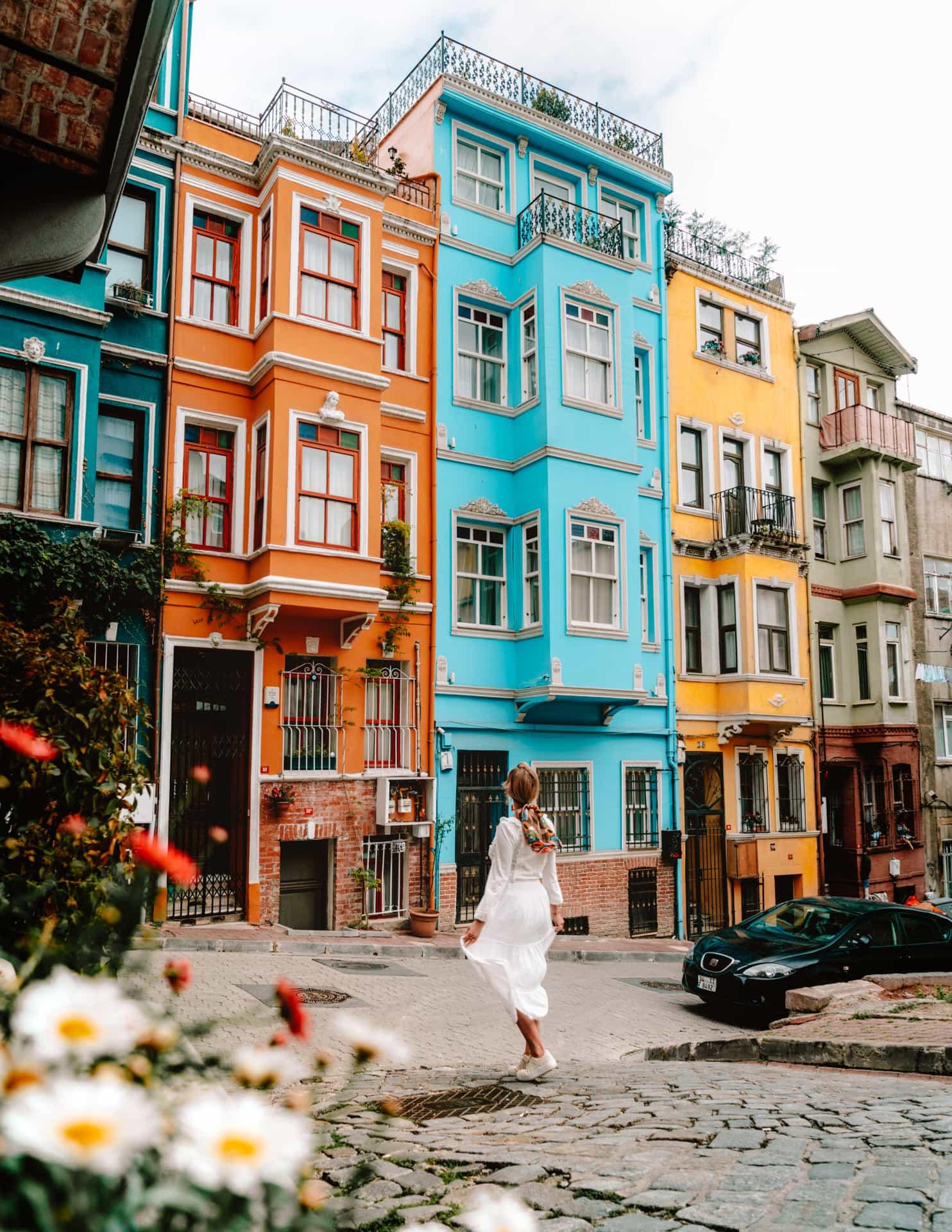 colorful balat istanbul turkey