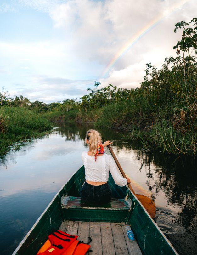 amazon river tour rainbow
