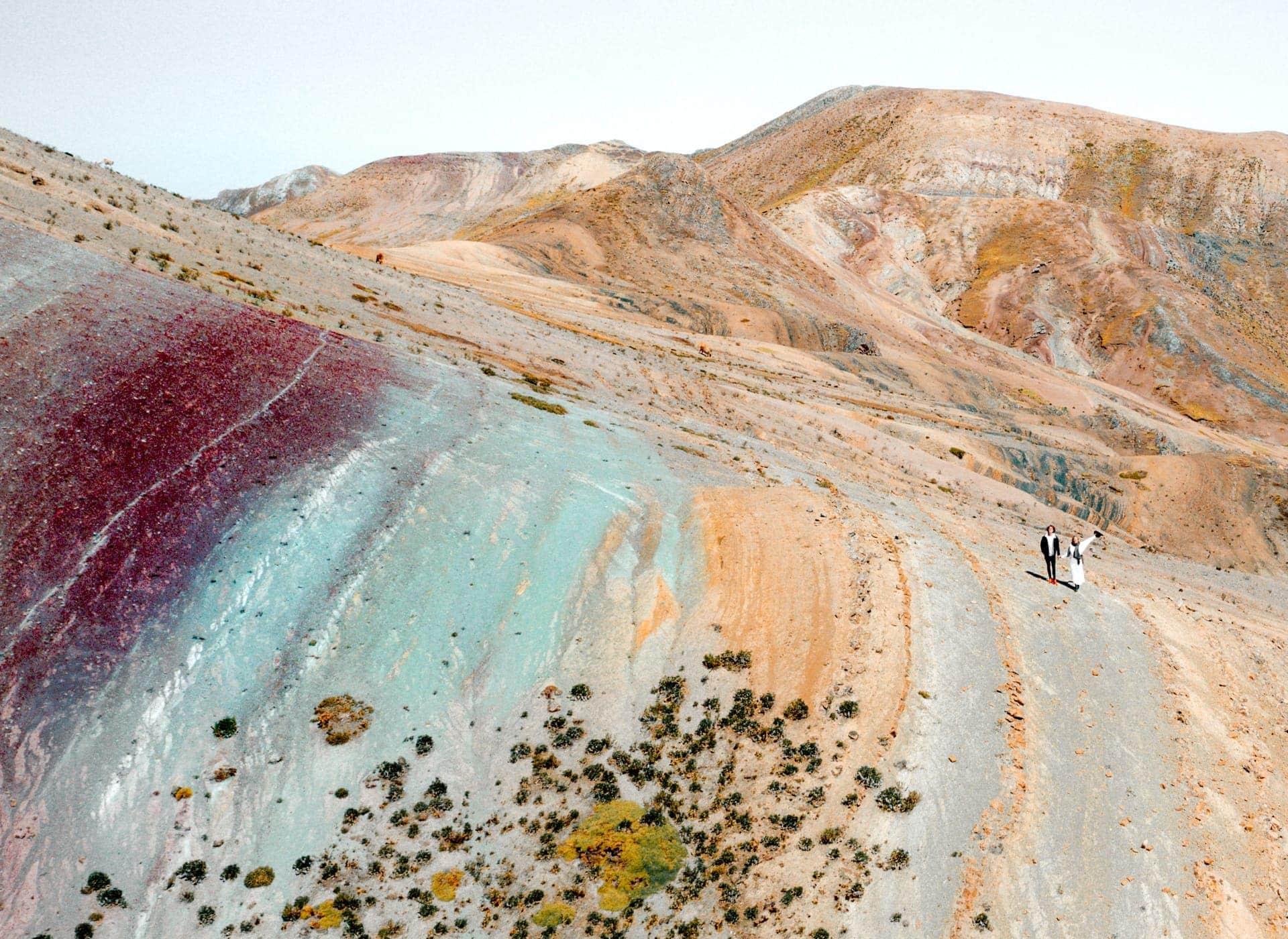 colors rainbow mountain peru