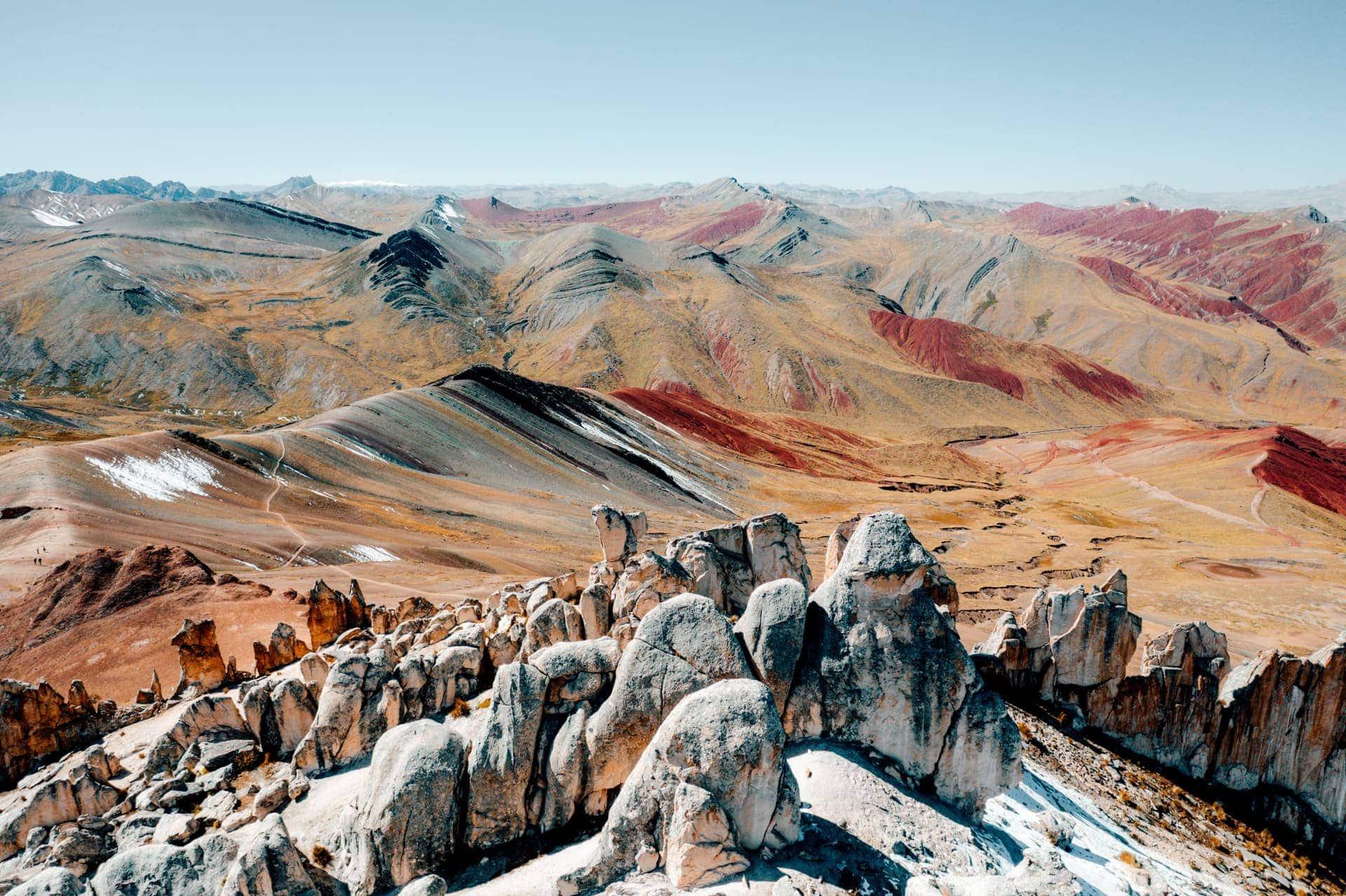 palccoyo rainbow mountain stone forest