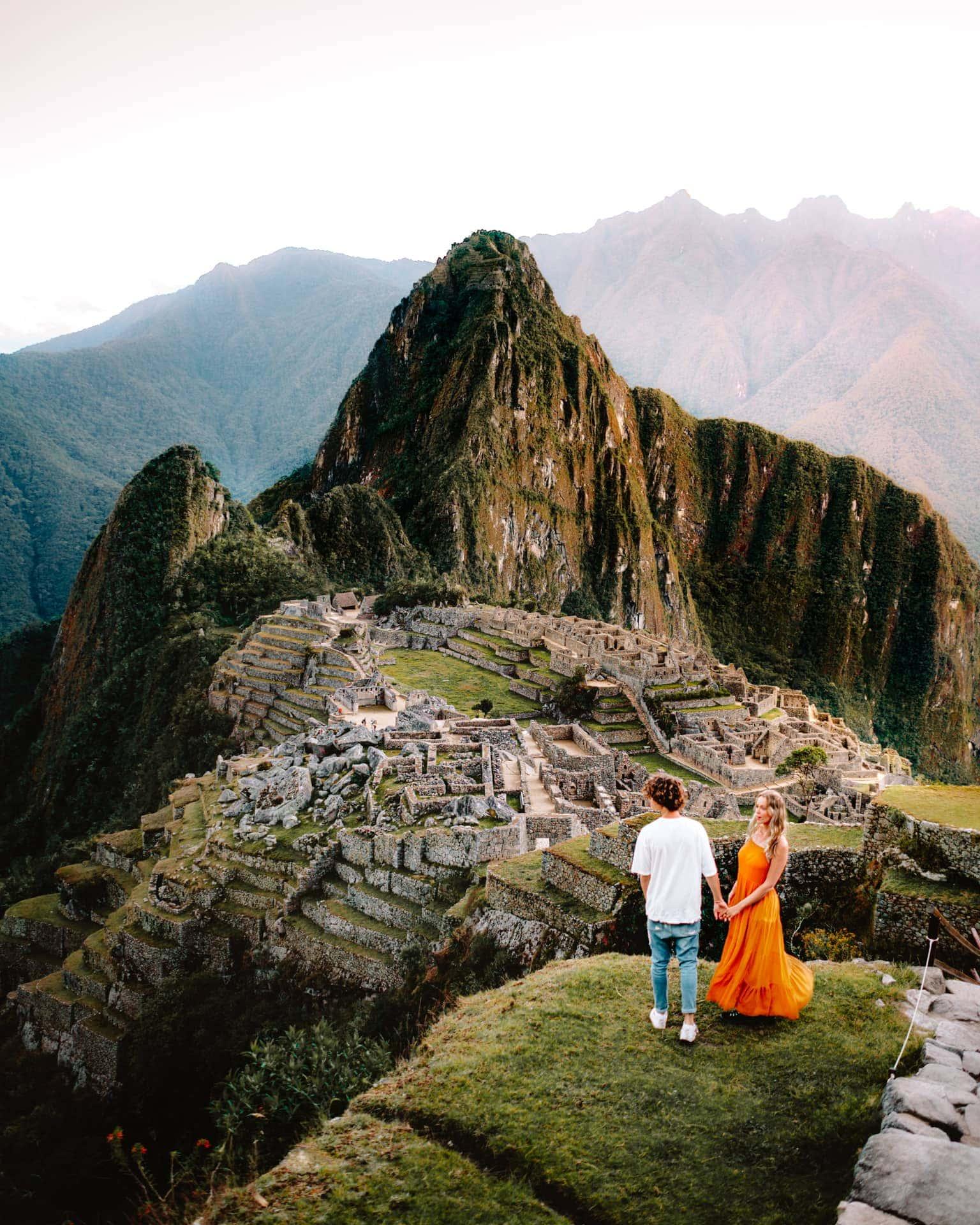 visit machu picchu peru sunrise