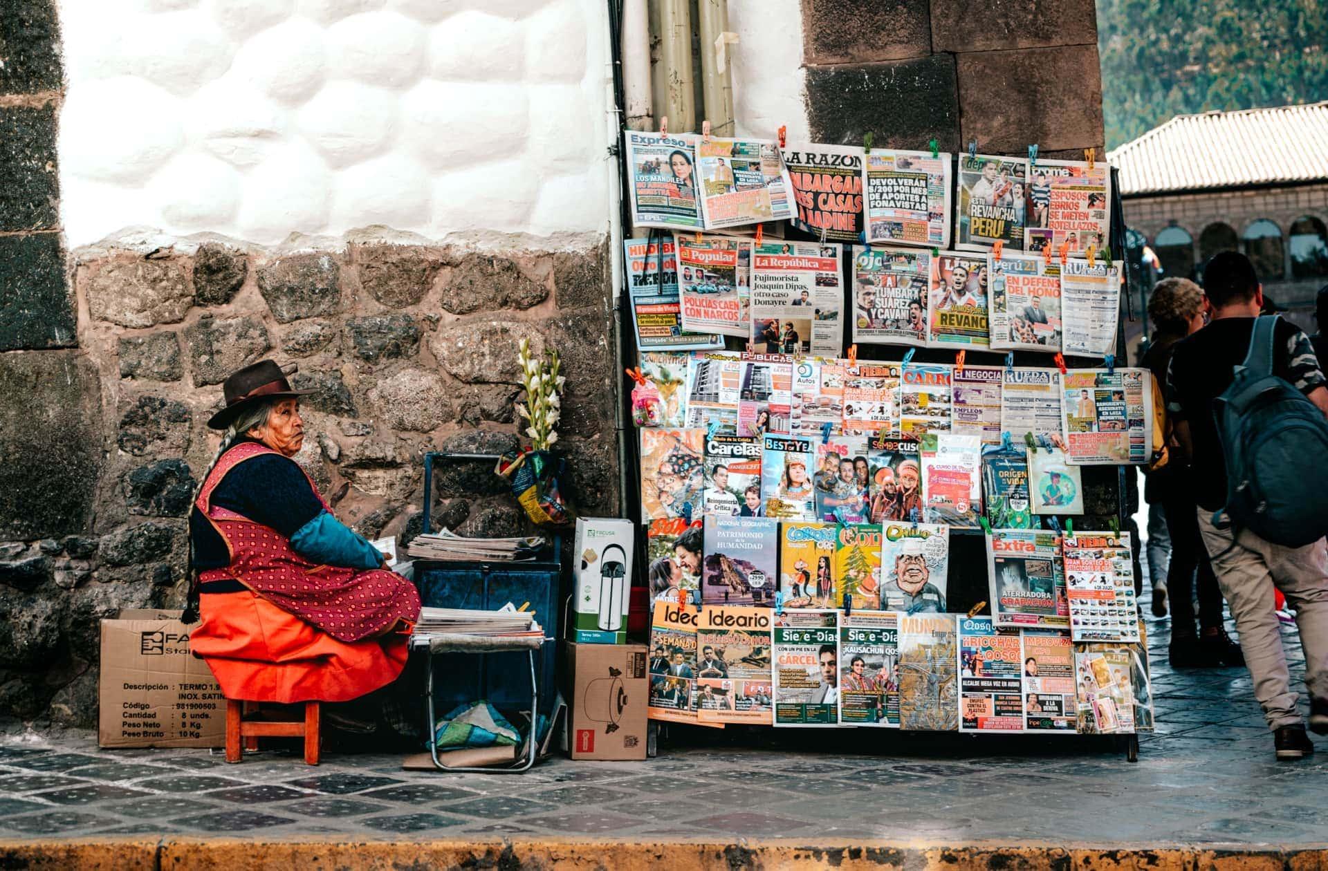 Cusco streets local