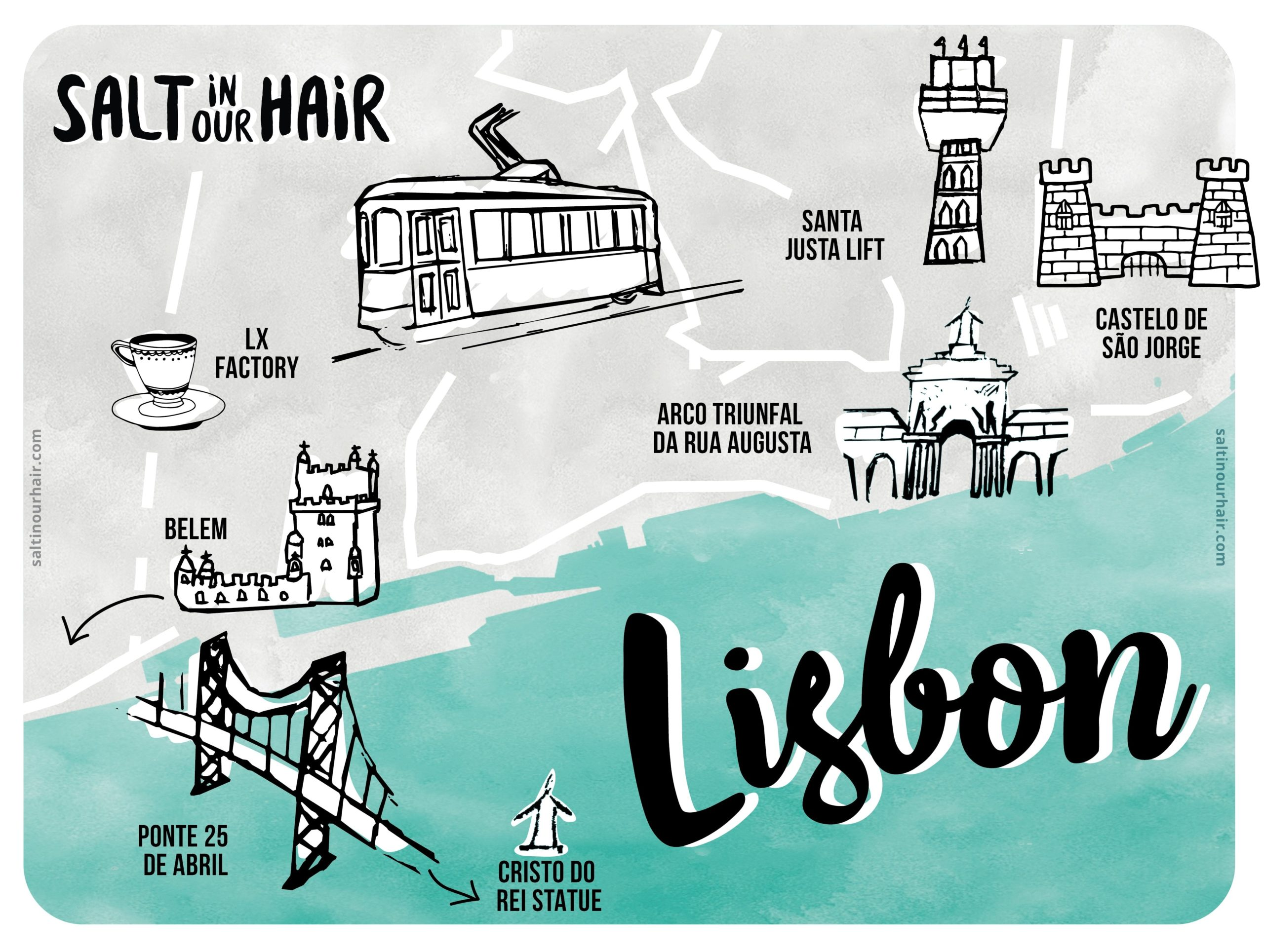 bezienswaardigheden lissabon kaart portugal