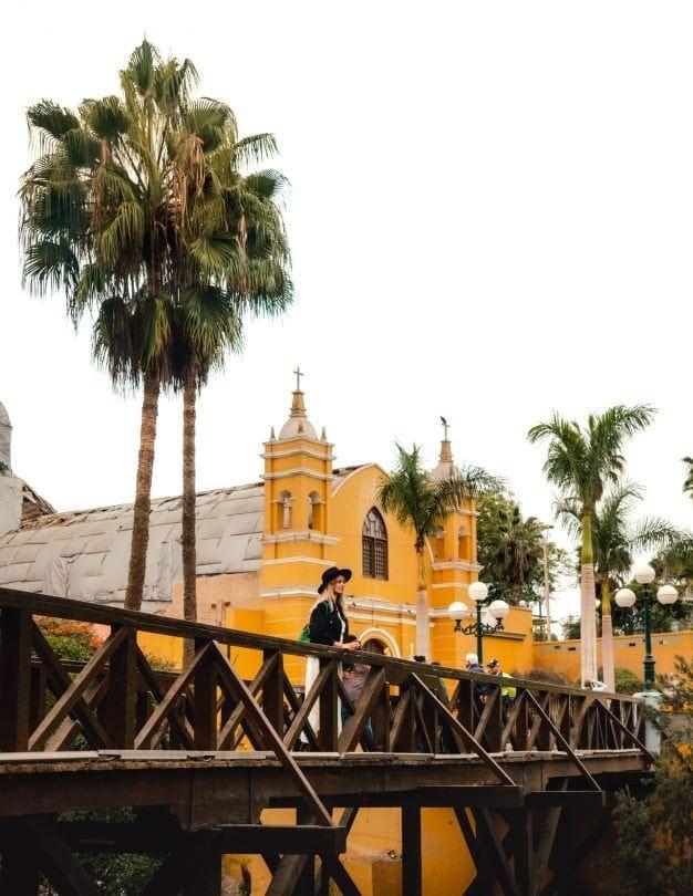 lima peru Barranco bridge