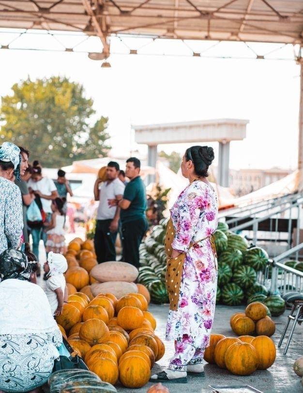 Uzbekistan samarkand market
