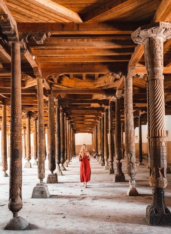 things to do khiva uzbekistan Juma Mosque