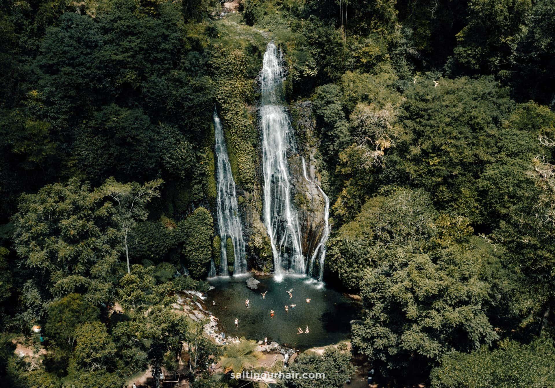 waterfall route bali Banyumala