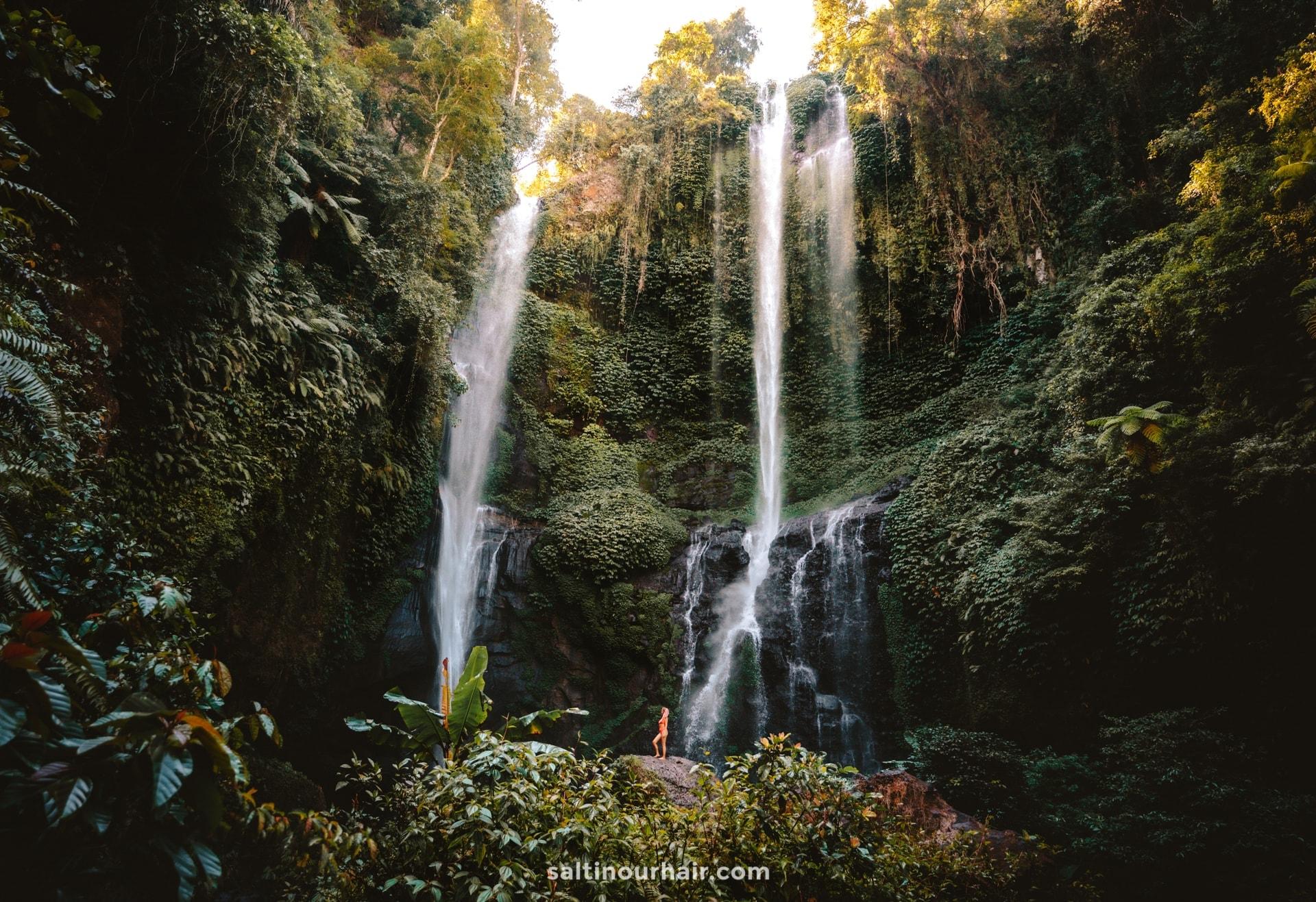 beautiful waterfall route bali sekumpul