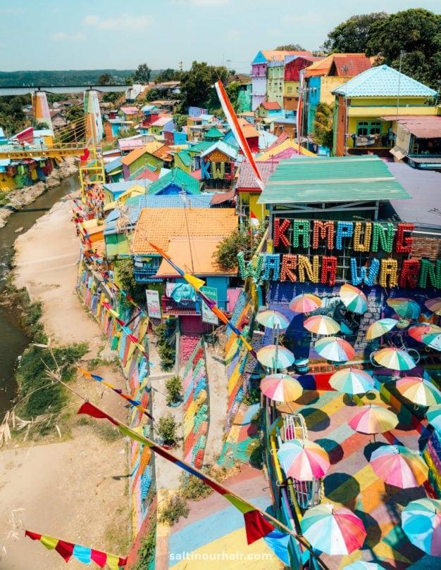 colorful village java indonesia