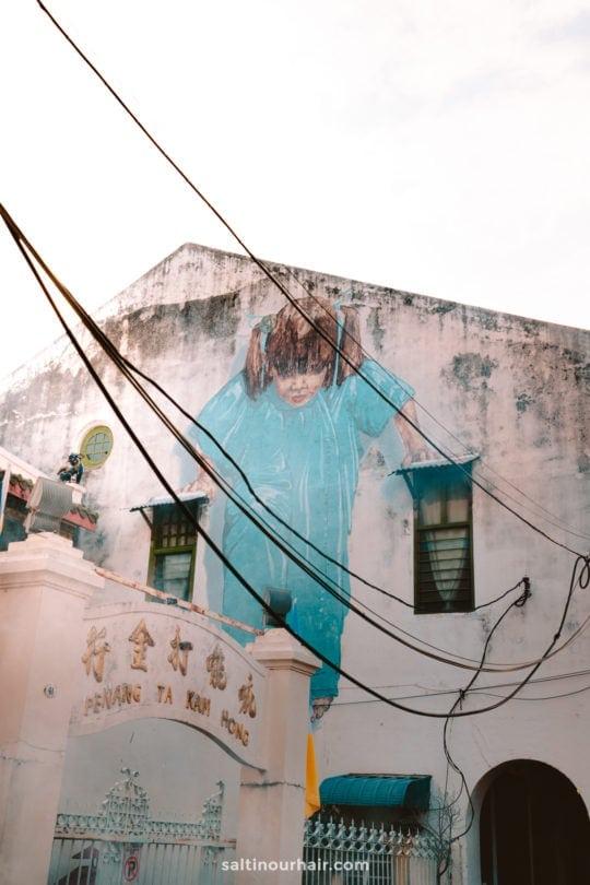 penang malaysia famous street art