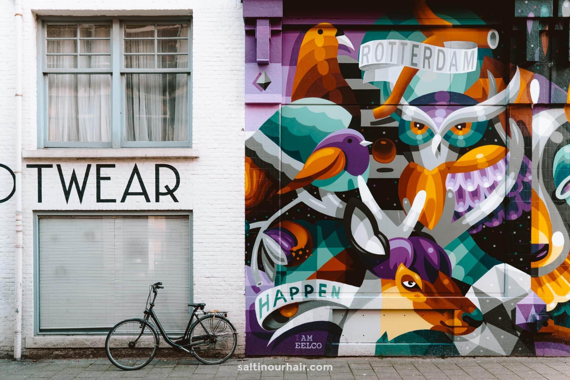 citytrip rotterdam street art