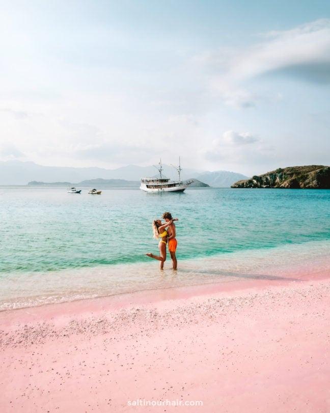 pink beach komodo islands flores