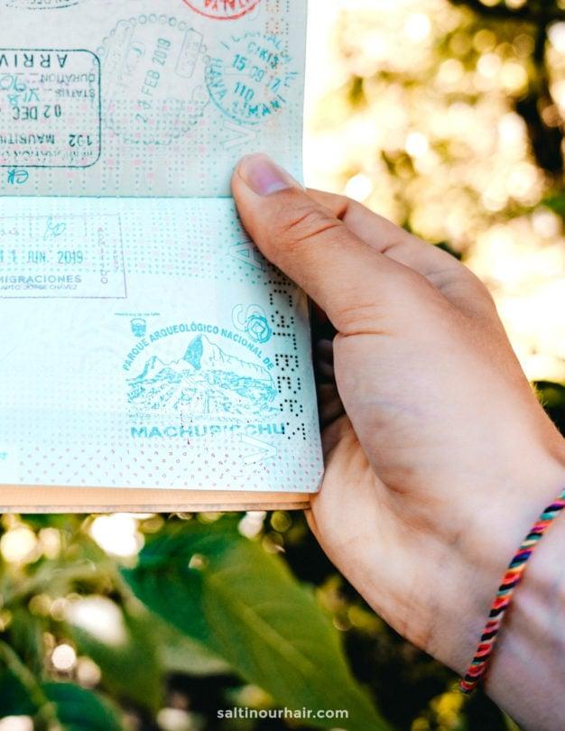 machu picchu peru passport stamp