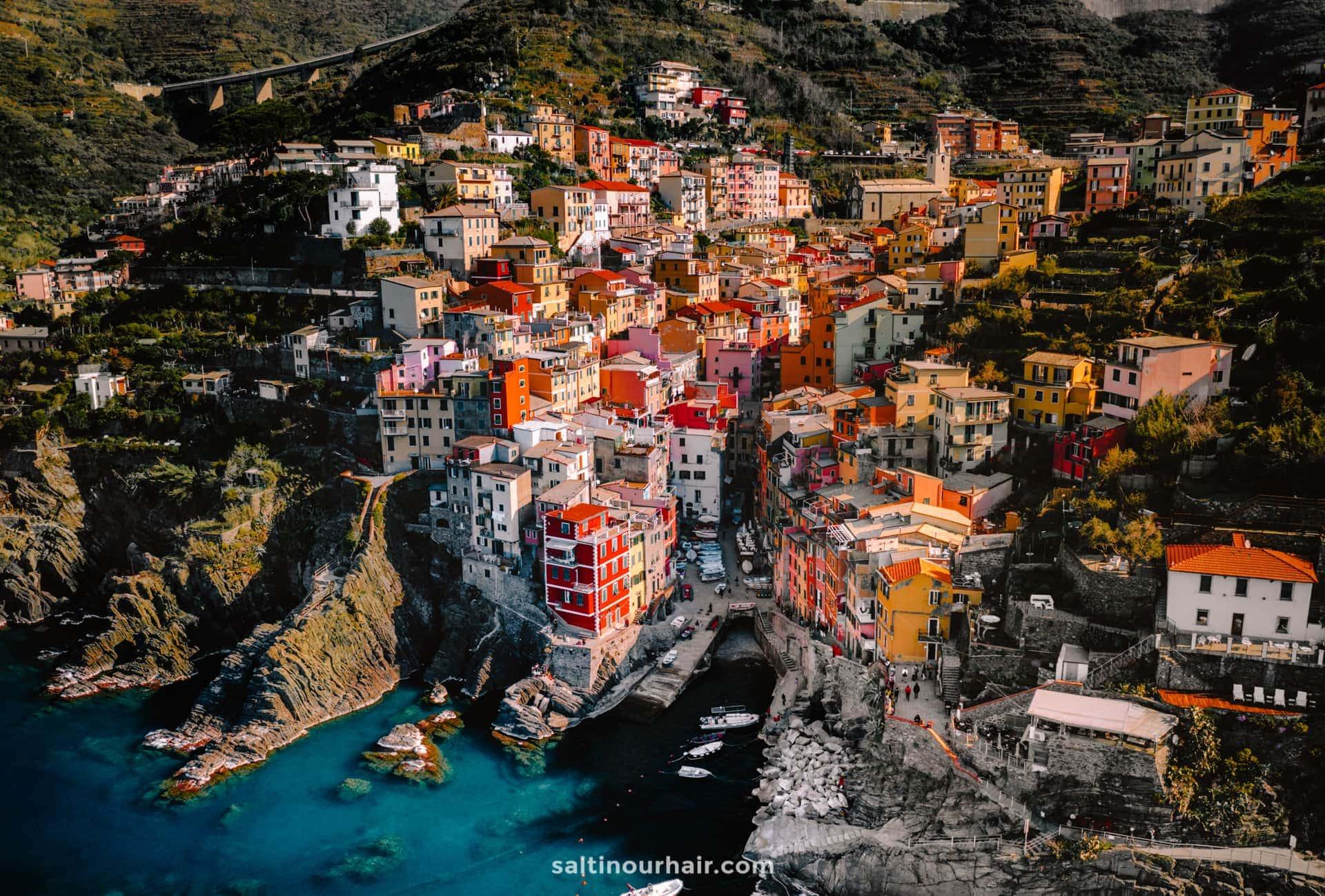 unesco Cinque Terre italy drone