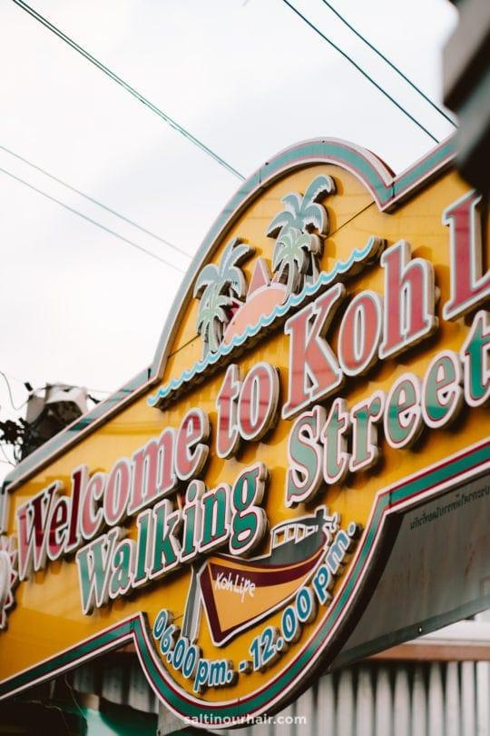 walking street koh lipe