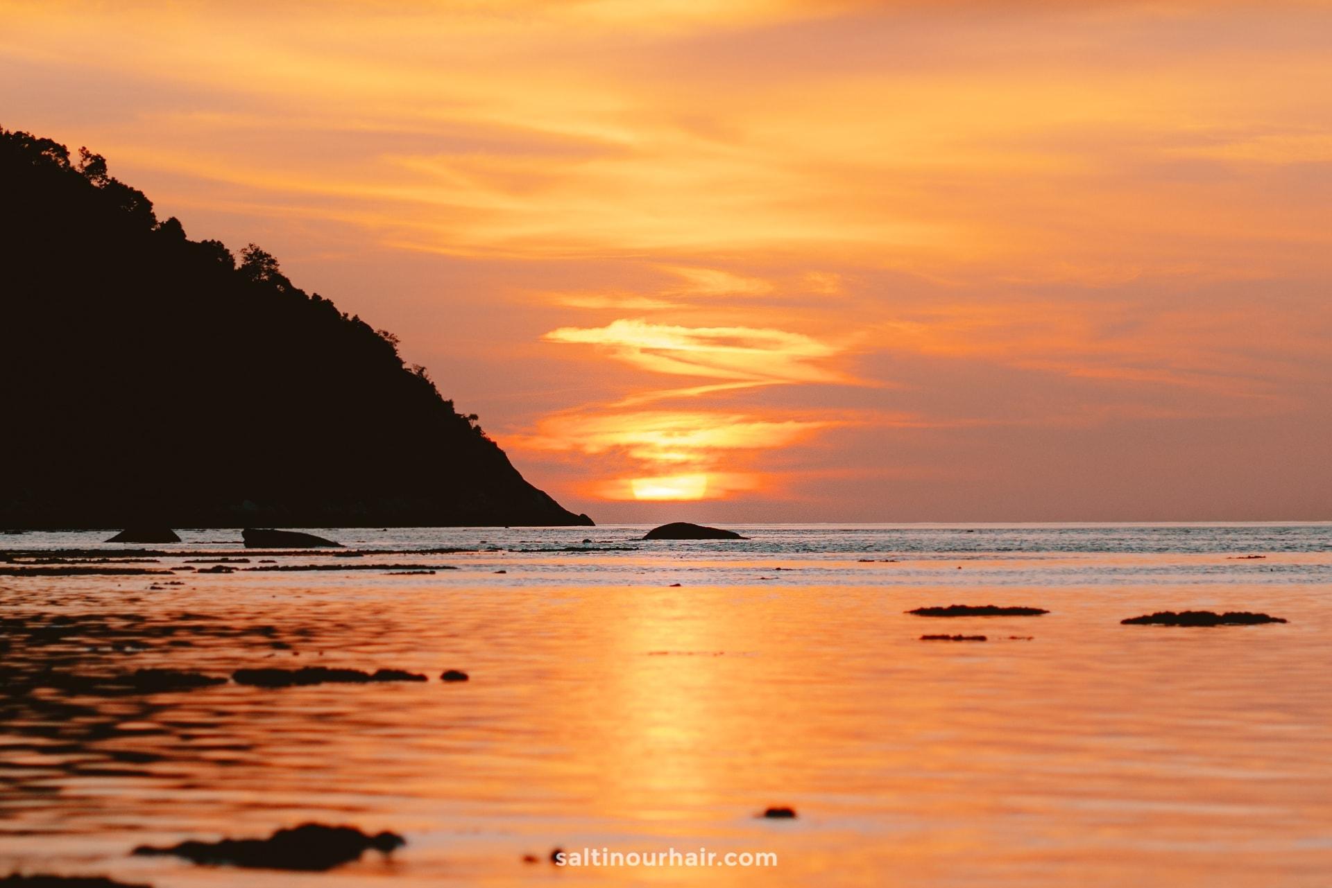 best things to do koh lipe sunset beach