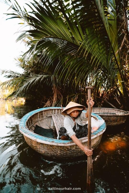 hoi an basket boat