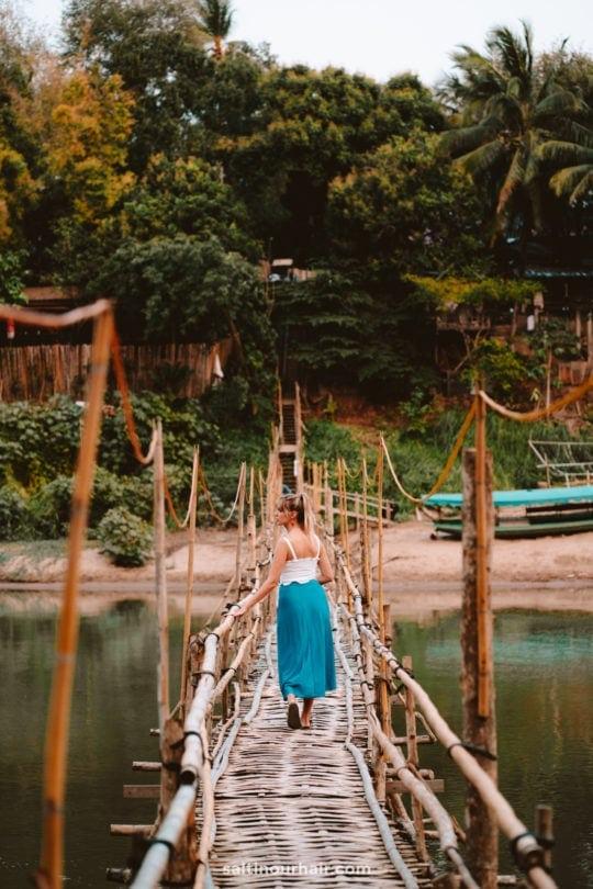 things to do bamboo bridge luang prabang