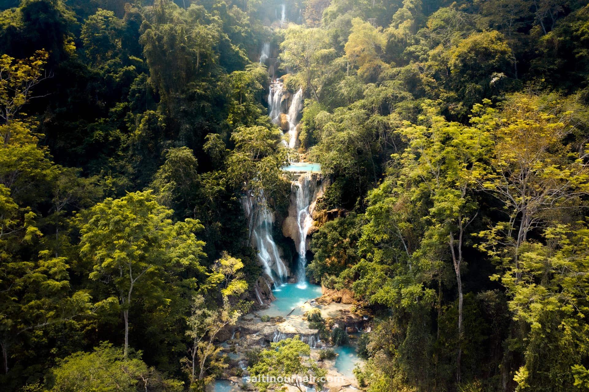 things to do luang prabang Kuang Si Falls