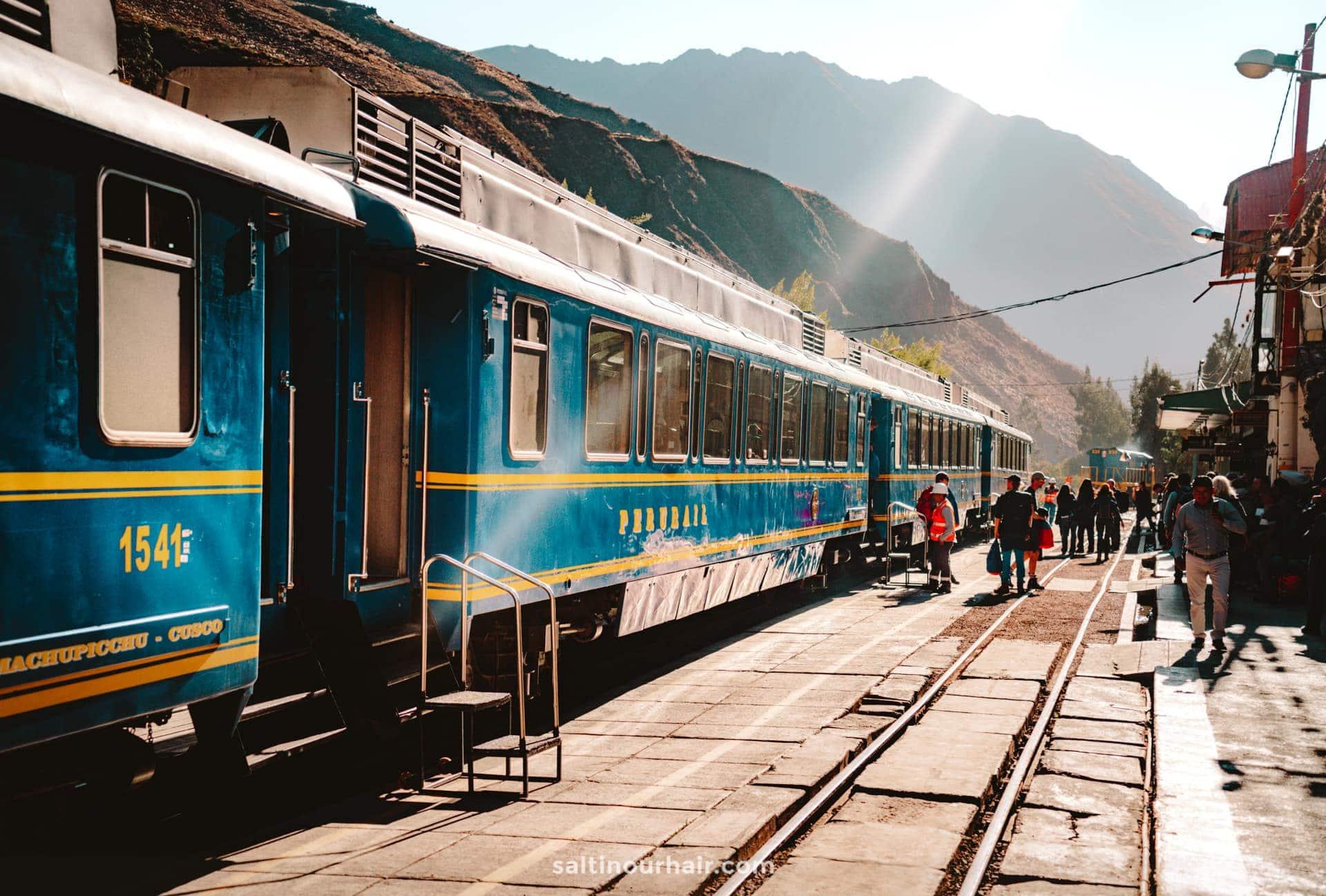 train machu picchu