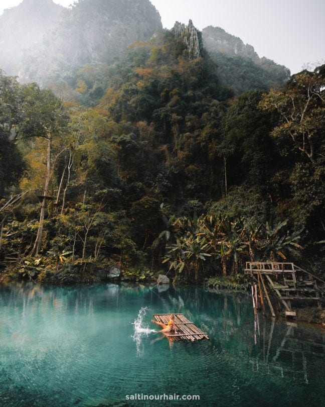best things to do vang vieng Blue Lagoon 3